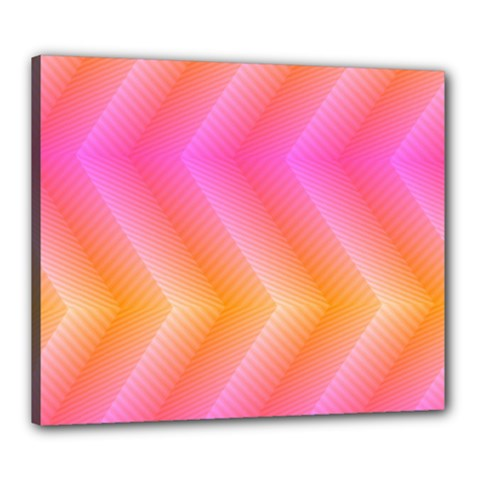 Pattern Background Pink Orange Canvas 24  x 20