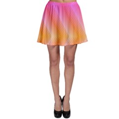 Pattern Background Pink Orange Skater Skirt
