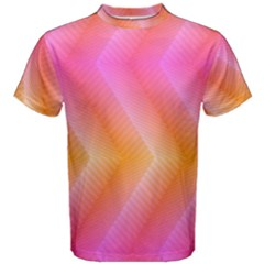 Pattern Background Pink Orange Men s Cotton Tee