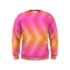 Pattern Background Pink Orange Kids  Sweatshirt