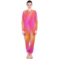 Pattern Background Pink Orange OnePiece Jumpsuit (Ladies)