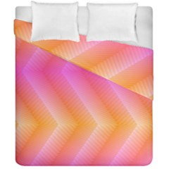 Pattern Background Pink Orange Duvet Cover Double Side (California King Size)