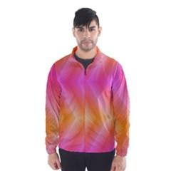 Pattern Background Pink Orange Wind Breaker (Men)