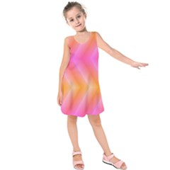 Pattern Background Pink Orange Kids  Sleeveless Dress