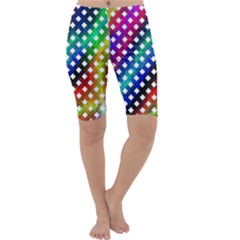 Pattern Template Shiny Cropped Leggings