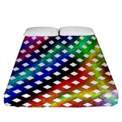 Pattern Template Shiny Fitted Sheet (California King Size)