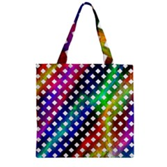 Pattern Template Shiny Zipper Grocery Tote Bag