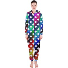 Pattern Template Shiny Hooded Jumpsuit (Ladies)