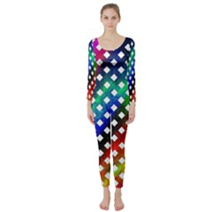 Pattern Template Shiny Long Sleeve Catsuit