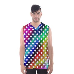 Pattern Template Shiny Men s Basketball Tank Top