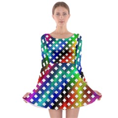 Pattern Template Shiny Long Sleeve Skater Dress