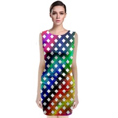 Pattern Template Shiny Classic Sleeveless Midi Dress