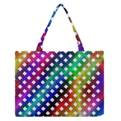 Pattern Template Shiny Medium Zipper Tote Bag