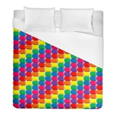 Rainbow 3d Cubes Red Orange Duvet Cover (Full/ Double Size)