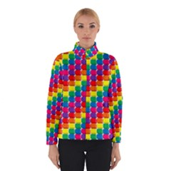 Rainbow 3d Cubes Red Orange Winterwear