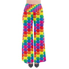 Rainbow 3d Cubes Red Orange Pants