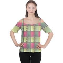 Seamless Pattern Seamless Design Women s Cutout Shoulder Tee