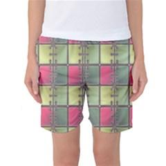 Seamless Pattern Seamless Design Women s Basketball Shorts