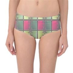 Seamless Pattern Seamless Design Mid-Waist Bikini Bottoms