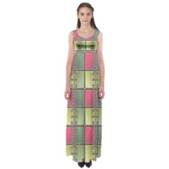 Seamless Pattern Seamless Design Empire Waist Maxi Dress