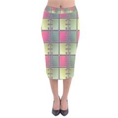 Seamless Pattern Seamless Design Velvet Midi Pencil Skirt