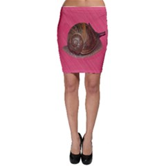 Snail Pink Background Bodycon Skirt