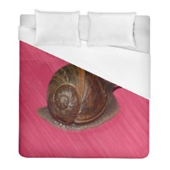 Snail Pink Background Duvet Cover (Full/ Double Size)