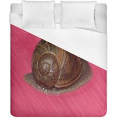 Snail Pink Background Duvet Cover (California King Size)