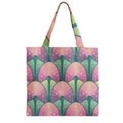 Seamless Pattern Seamless Design Zipper Grocery Tote Bag