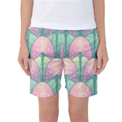 Seamless Pattern Seamless Design Women s Basketball Shorts