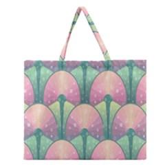 Seamless Pattern Seamless Design Zipper Large Tote Bag