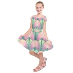 Seamless Pattern Seamless Design Kids  Short Sleeve Dress