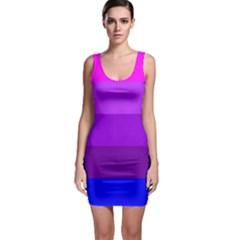 Transgender Flag Sleeveless Bodycon Dress