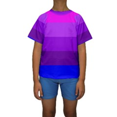 Transgender Flag Kids  Short Sleeve Swimwear