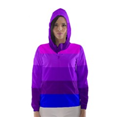 Transgender Flag Hooded Wind Breaker (Women)