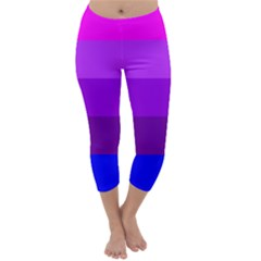 Transgender Flag Capri Winter Leggings