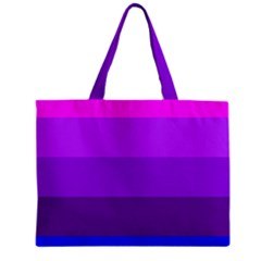 Transgender Flag Zipper Mini Tote Bag