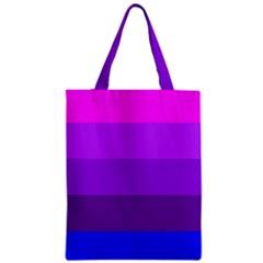 Transgender Flag Zipper Classic Tote Bag