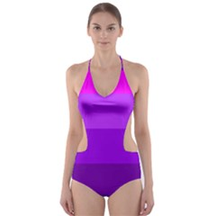 Transgender Flag Cut-Out One Piece Swimsuit