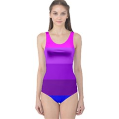 Transgender Flag One Piece Swimsuit