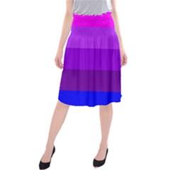 Transgender Flag Midi Beach Skirt