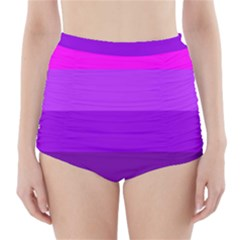 Transgender Flag High-Waisted Bikini Bottoms