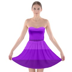 Transgender Flag Strapless Bra Top Dress
