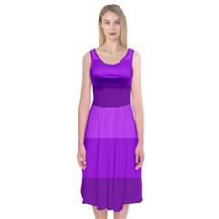 Transgender Flag Midi Sleeveless Dress