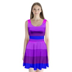 Transgender Flag Split Back Mini Dress