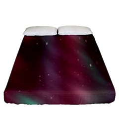 Stars Nebula Universe Artistic Fitted Sheet (Queen Size)