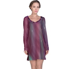 Stars Nebula Universe Artistic Long Sleeve Nightdress