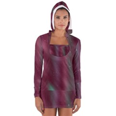 Stars Nebula Universe Artistic Women s Long Sleeve Hooded T-shirt
