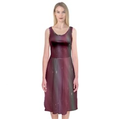 Stars Nebula Universe Artistic Midi Sleeveless Dress