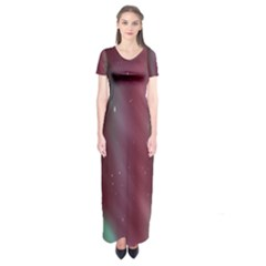 Stars Nebula Universe Artistic Short Sleeve Maxi Dress